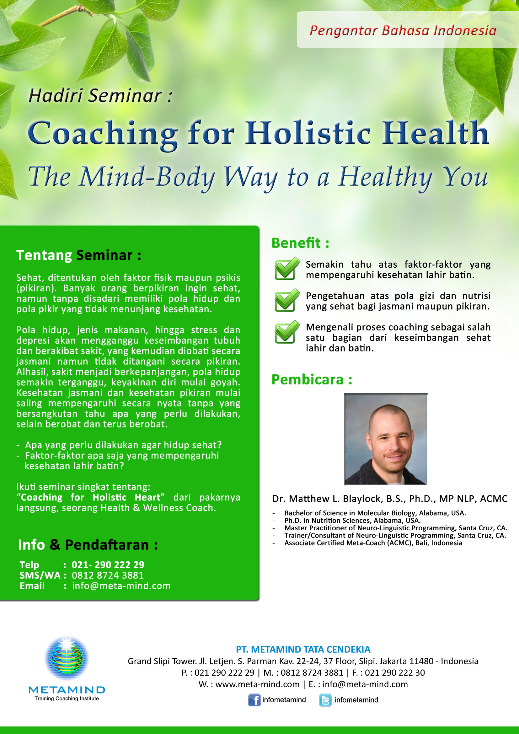 coaching fo holistic health